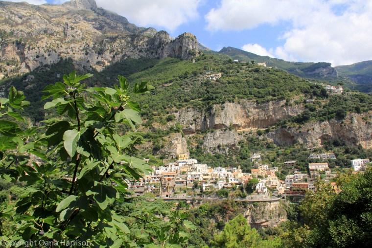 Mountain side of Positano