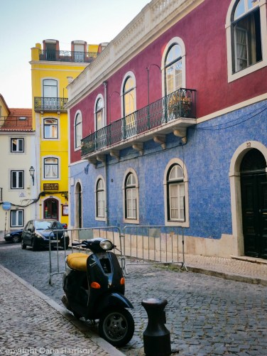 Lisbon colorful houses