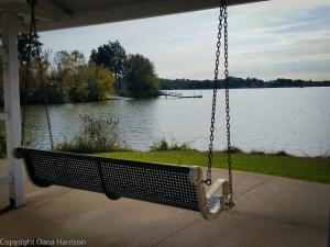 Carl Cowan swing by the water