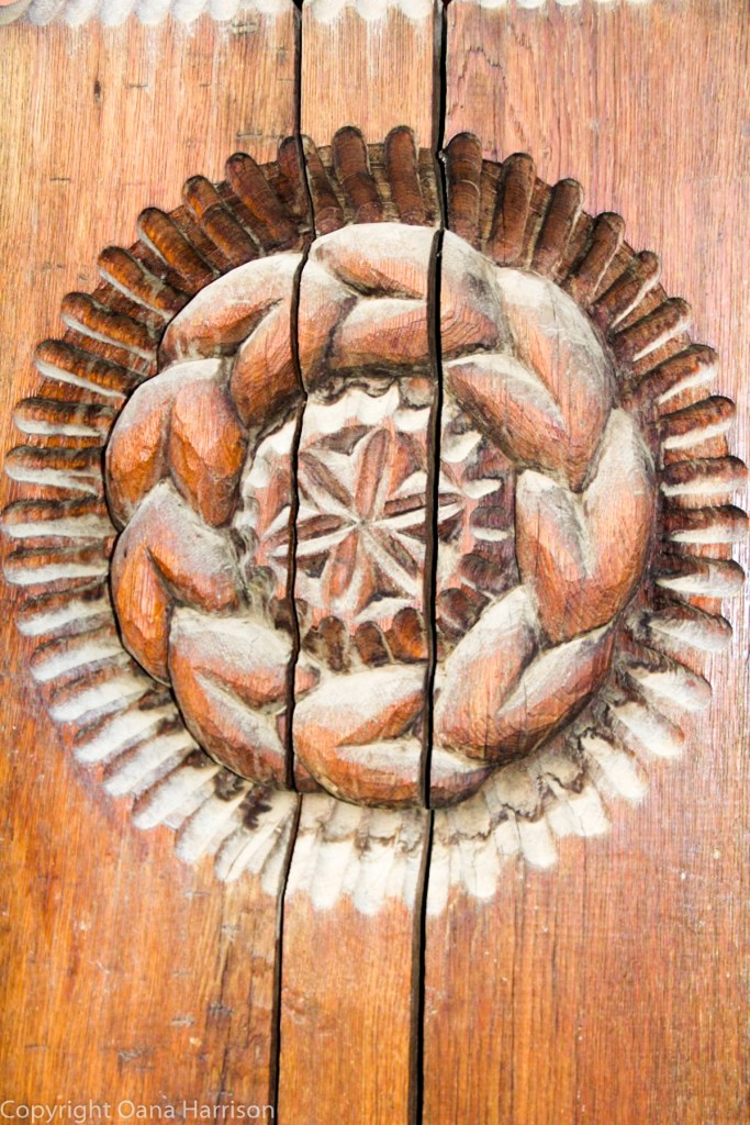 Romanian Traditions Christmas Maramures Carved Wooden Door