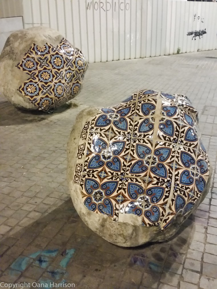 Porto, Portugal Stenciled Rocks