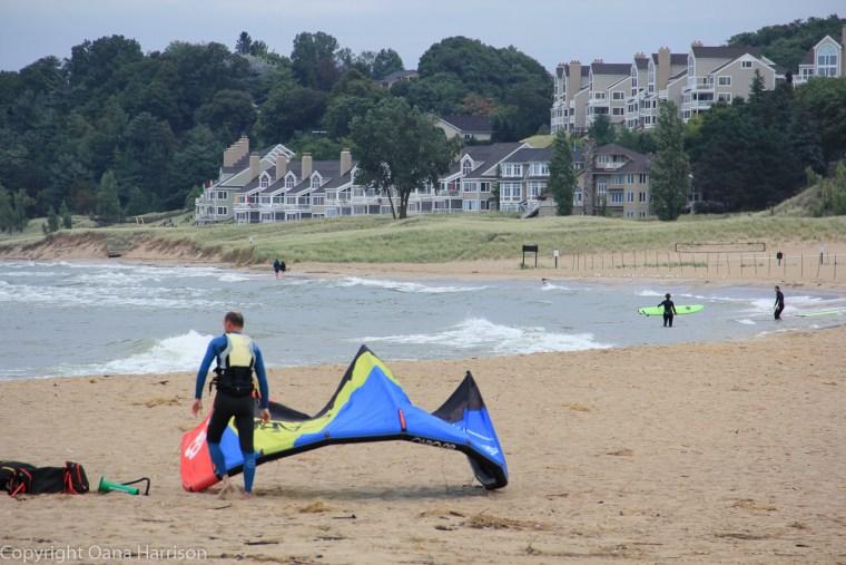 Holland-State-Park-Michigan-kite-surfer