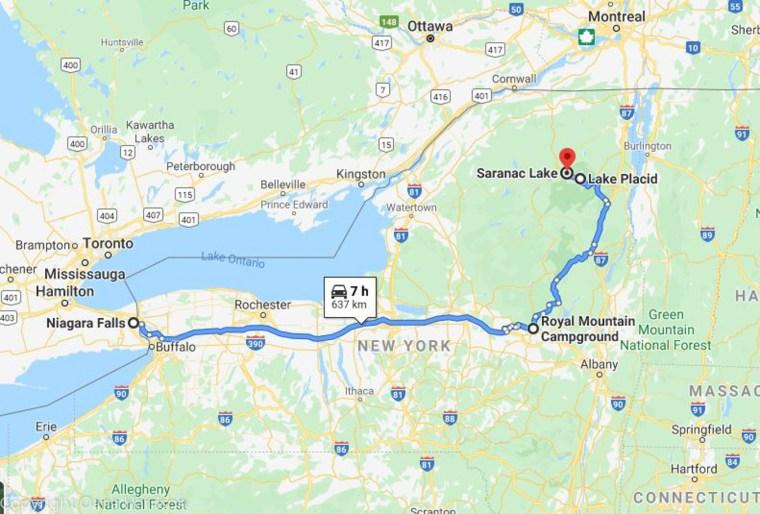 Niagara-Falls-to-Royal-Mountain-NY-map