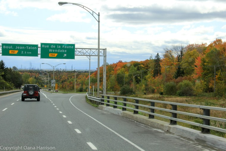Road out of Quebec City