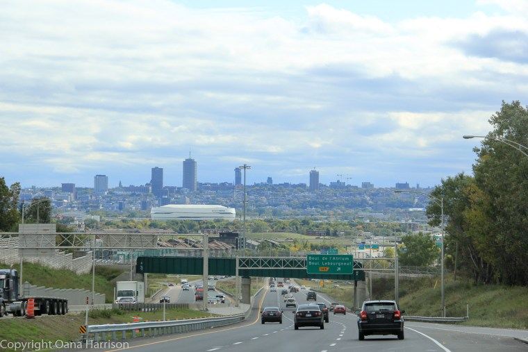 View of Quebec City from the road