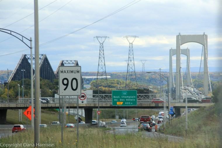 Bridges near Quebec City