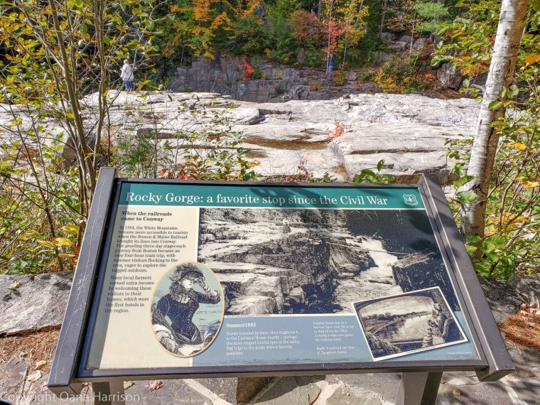 Rocky Gorge, Conway, New Hampshire informational sign