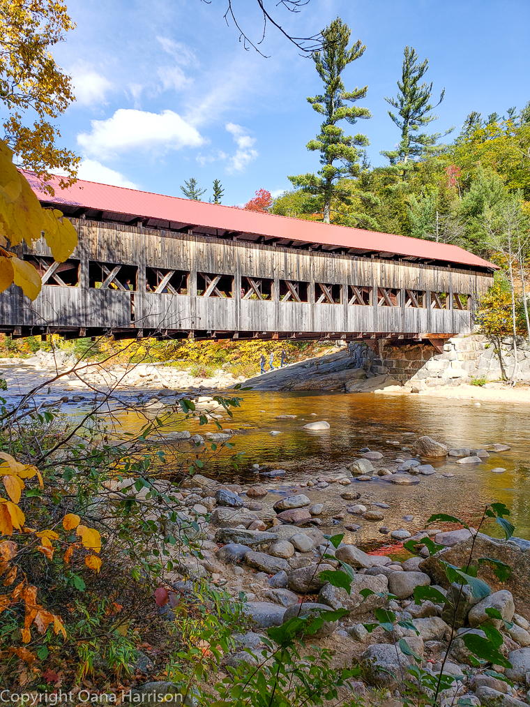 Covered bridge in Lincoln New Hampshire