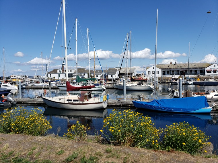 Boats in the harbor in Port Townsend, Washington