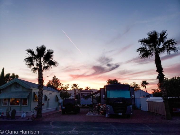 Las Colinas RV Park Eloy Arizona sunset