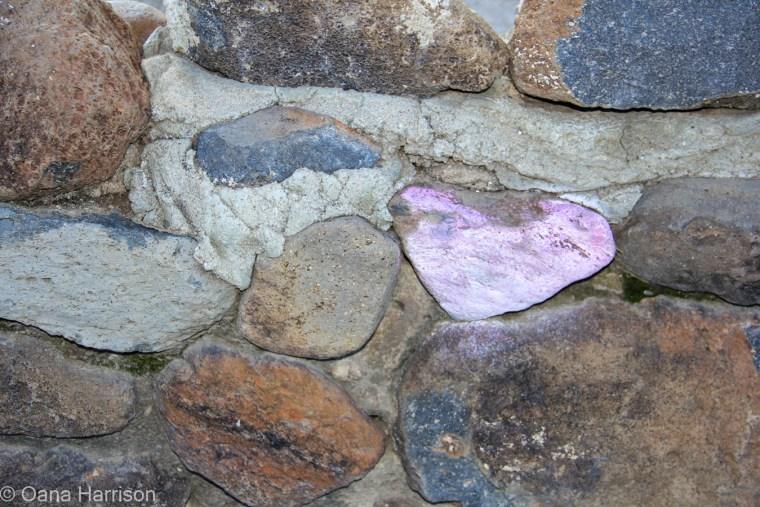 Tucson Arizona Old Town, pink heart shaped rock