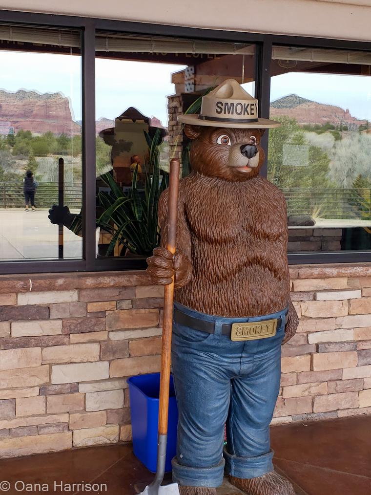 Red Rocks Sedona Arizona, Smokey the Bear