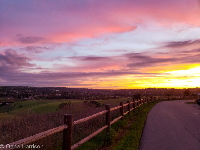 San Diego, California, Sweetwater County Park sunset