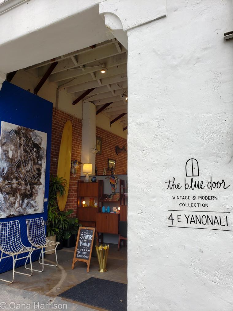 Santa Barbara, California, the blue door