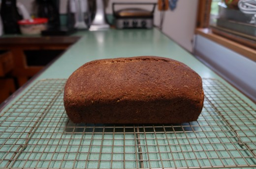 Baked 50% Rye Loaf - Removed from Pan