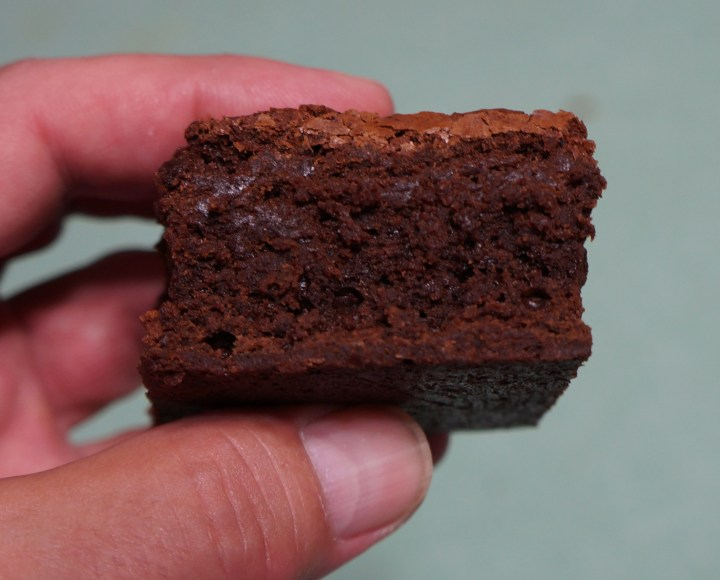 Triple Chocolate Brownie - my idea of perfection and possibly a good starting point from which you can derive your perfect brownie recipe.