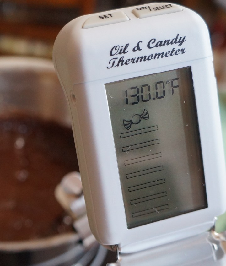 Let the fudge cool to 130° F.