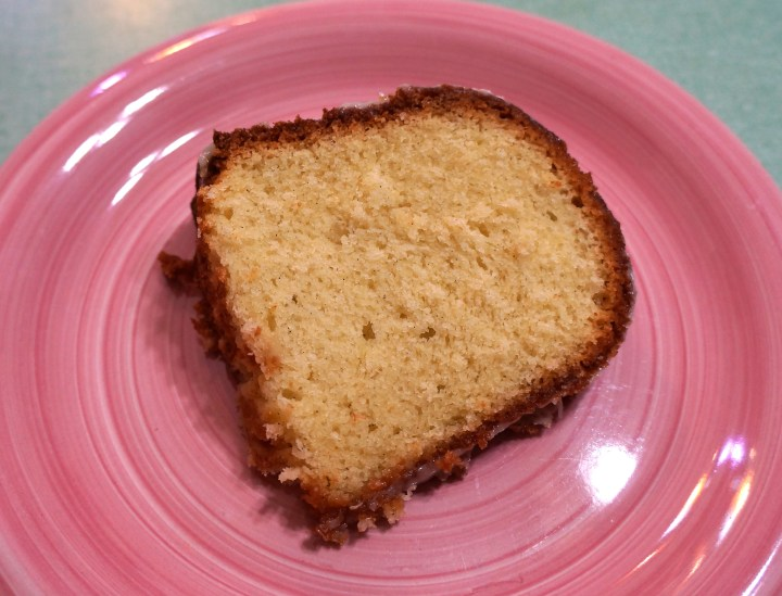 A simple butter cake.  But moister, richer, and with a far better texture than any butter cake I have ever made.