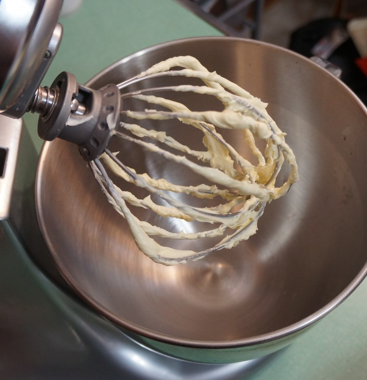 Rinse-out the bowl for the stand mixer and dry (no need to clean the whisk attachment).