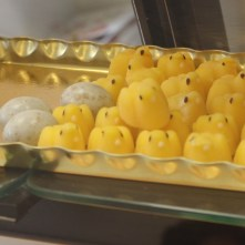 """Poussins Fondants: """"Melt-in-your-mouth chicks"""", 50 euro cents each"""