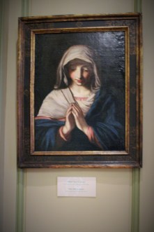 One of the many paintings on display