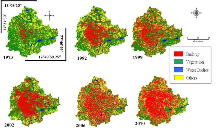 Land use changes in Greater Bangalore Urbanisation GreatGameIndia NWO Rothschild