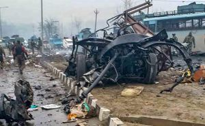 Remains of Mahindra Scorpio used for suicide bombing in Pulwama attack