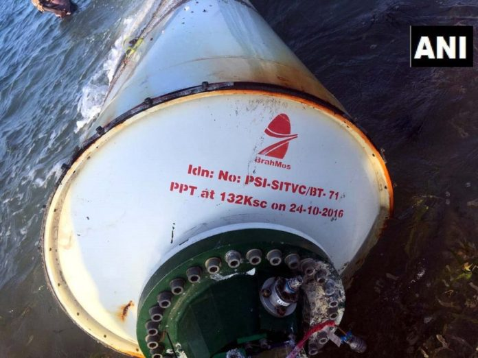 Marine Police of the Coastal Security Group (CSG) of Tamil Nadu retrieved a part of BrahMos missile local fishermen had noticed the cylindrical object and had alerted the authorities.