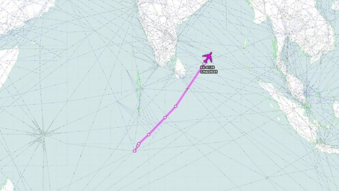 USAF RC-135S 62-4128 CHAOS45 departed Diego Garcia at 2330Z for a mission in the Bay of Bengal to monitor India's ASAT anti-satellite missile test