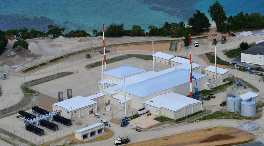 Aerial photo of the U.S. Air Force Space Surveillance Network - Space Fence - on Kwajalein Atoll that detected India's ASAT test.