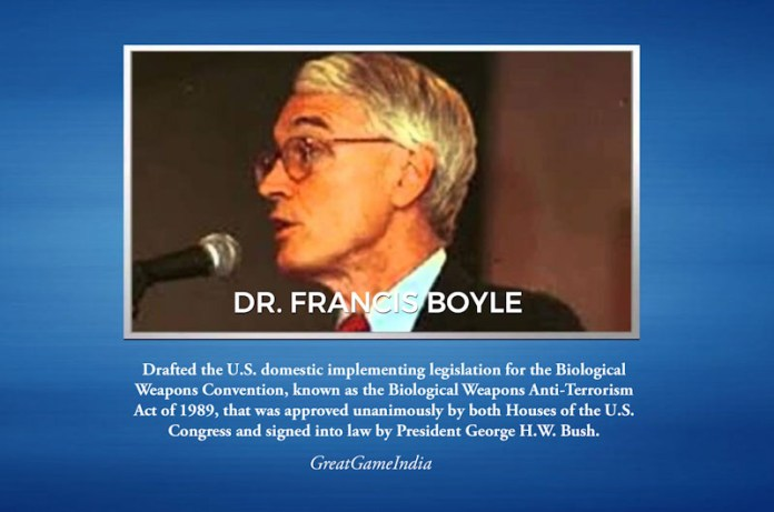 Dr Francis Boyle Coronavirus Biological Warfare Weapon