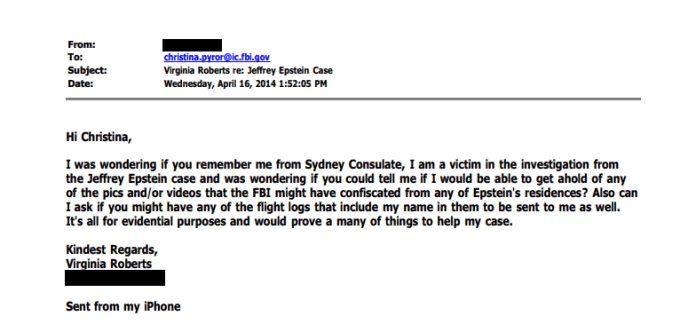 Jeffrey Epstein victim FBI
