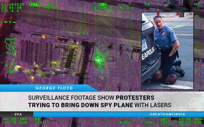 Surveillance Footage From Minneapolis Show Protesters Trying To Bring Down Spy Plane With Lasers