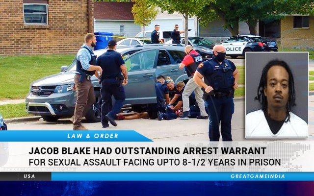 Jacob Blake Had Outstanding Arrest Warrant For Sexual Assault Facing Upto  8-1/2 Years In Prison | GreatGameIndia