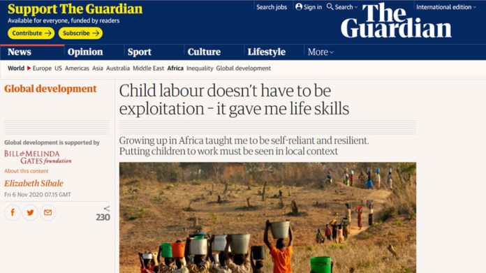 Bill & Melinda Gates Foundation Caught Promoting Child Labour In The Guardian