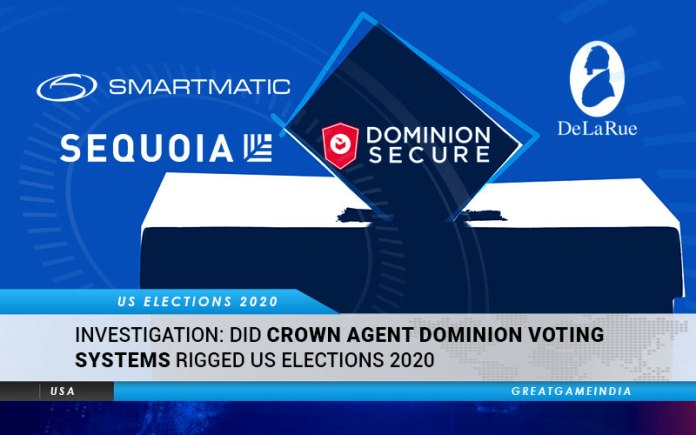 INVESTIGATION Did Crown Agent Dominion Voting Systems Rigged The US Elections 2020