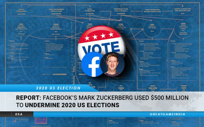 Facebook's Mark Zuckerberg Used $500 Million To Undermine 2020 US Election
