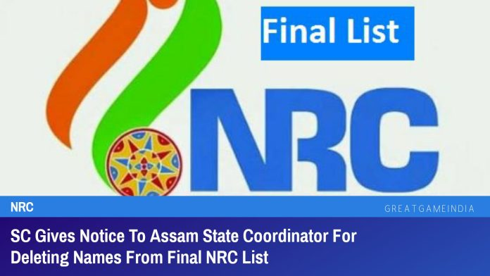 SC Gives Notice To Assam State Coordinator For Deleting Names From Final NRC List