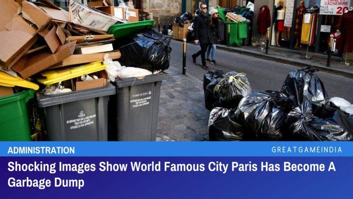 Shocking Images Show World Famous City Paris Has Become A Garbage Dump