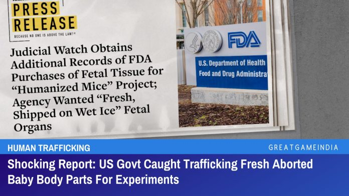 ShockingReportUSGovtCaughtTraffickingFreshAbortedBabyBodyPartsForExperiments Shocking Report: US Govt Caught Trafficking Fresh Aborted Baby Body Parts For Experiments