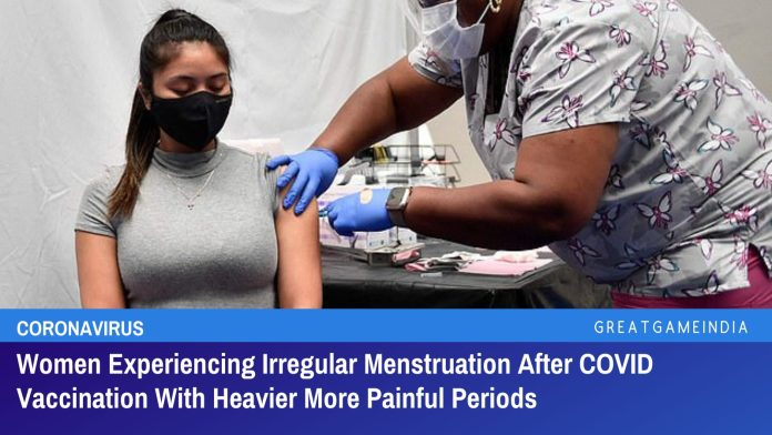 Women Experiencing Irregular Menstruation After COVID Vaccination With Heavier More Painful Periods