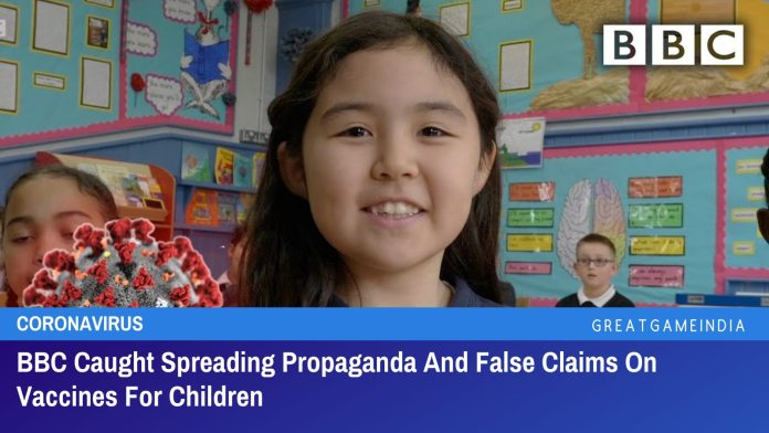 BBC Caught Spreading Propaganda And False Claims On Vaccines For Children