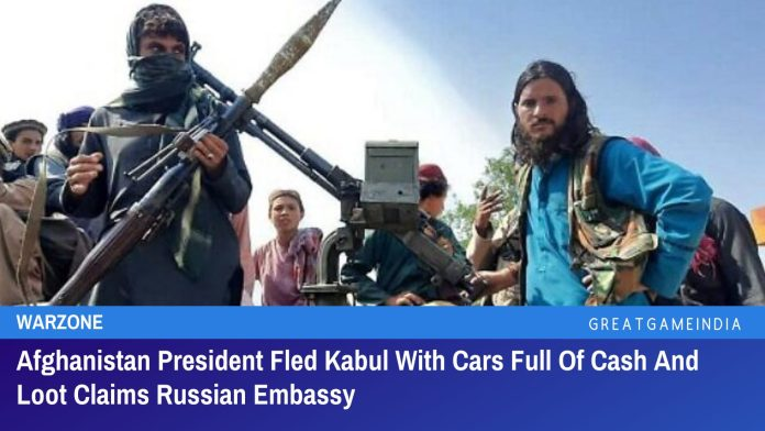 Afghanistan President Fled Kabul With Helicopter Full Of Cash And Loot Claims Russian Embassy