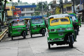 Tricycles at the streets of Davao, Philippines.