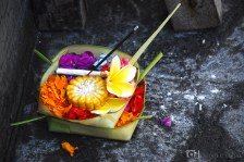 Canang Sari: a daily hindu offering can be found in every houses and establishments.