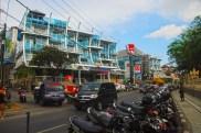 Kuta Beach fronts this commercial establishments.