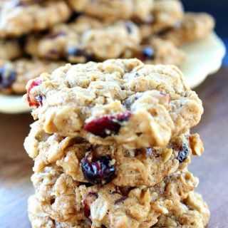 Oatmeal Walnut Cranberry Cookies