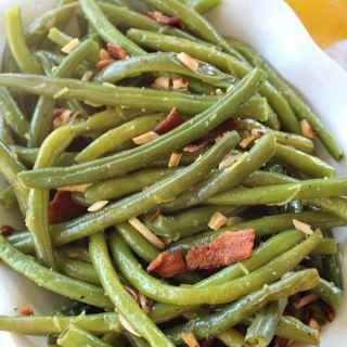 Lemon Nutty Bacon Green Beans