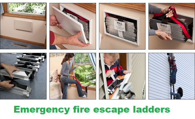 emergency fire escape ladders