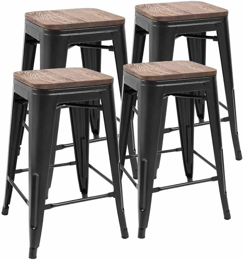 Indoor-Outdoor Metal Bar Stools